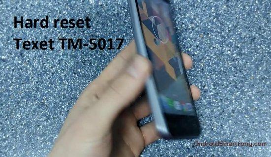 Hard Reset TEXET TM-5017 Quartz - сброс настроек, пароля, графического ключа