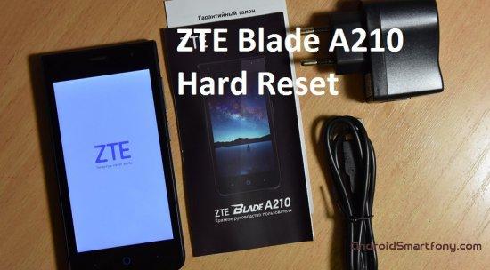 Hard Reset ZTE Blade A210 - сброс настроек, пароля, графического ключа