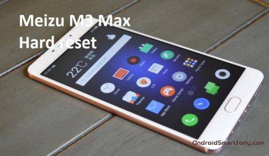 Hard Reset Meizu M3 Max - сброс настроек, пароля, графического ключа