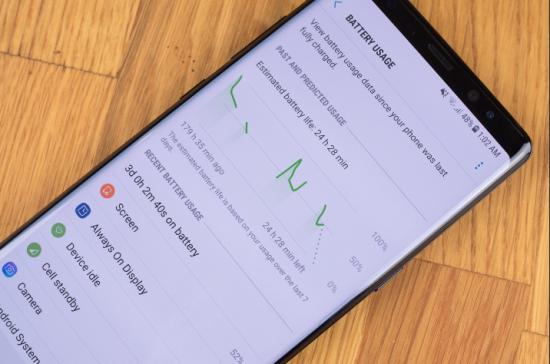 продолжительность автономной работы Note 8