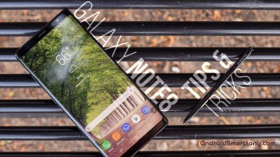 Подсказки и трюки смартфона Samsung Galaxy Note 8