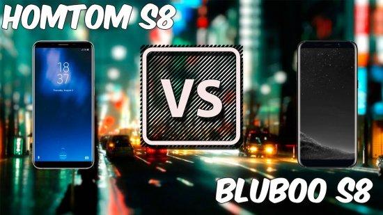 Bluboo S8 vs HomTom S8 - какой бюджетник с экраном 18:9 лучше?