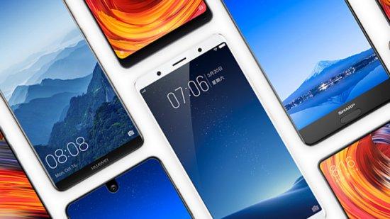 китайские безрамочные смартфоны 2017