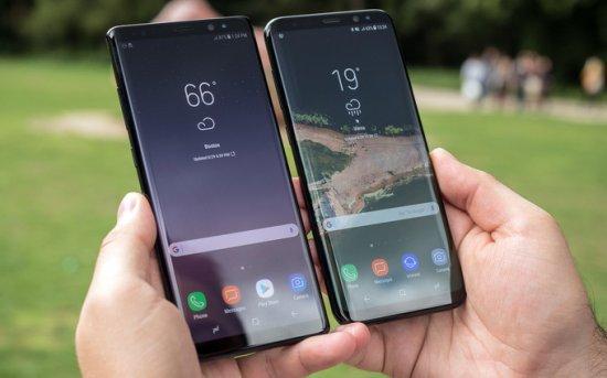 2-е место в топе безрамочных смартфонов - Galaxy S8 и Note 8
