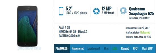 Moto G5 Plus - лучший бюджетный смартфон 2017