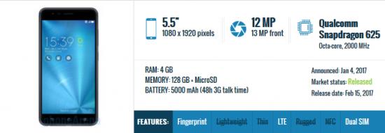 Asus ZenFone 3 Zoom - бюджетный смартфон года
