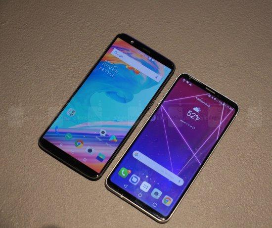 Сравнительный обзор смартфонов OnePlus 5T и LG V30