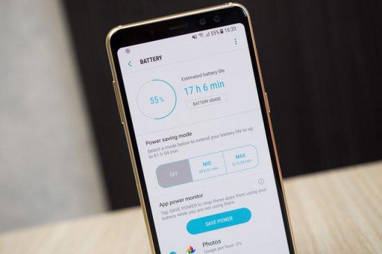 Автономность Samsung Galaxy A8 2018
