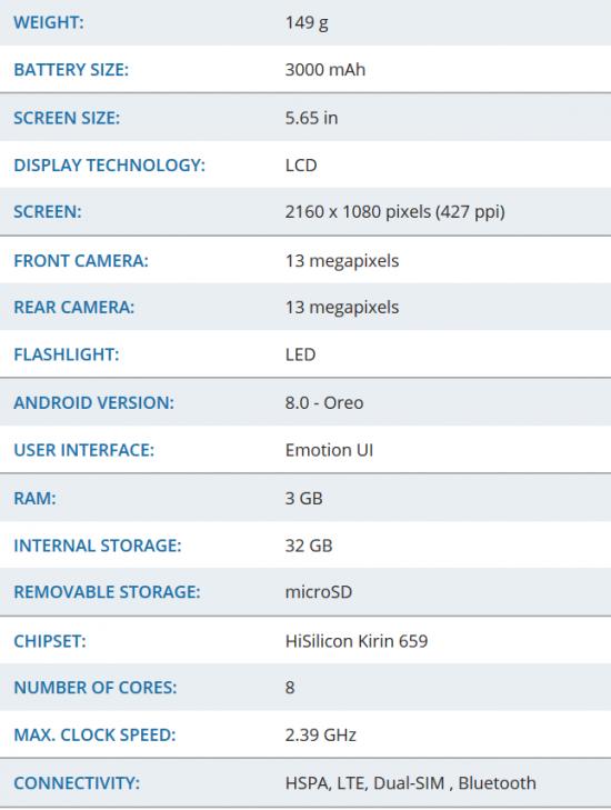 Huawei Honor 9 Lite характеристики