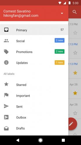 Google представила урезанную версию Gmail для Android