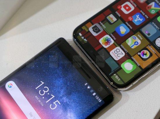 Сравнительный обзор смартфонов Nokia 8 Sirocco и iPhone X