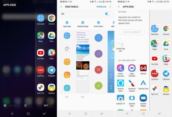 Настройка Edge панели в Galaxy S9