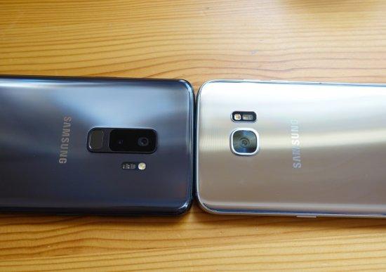 сравнение Samsung Galaxy S9 Plus vs Galaxy S7 Edge