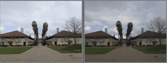 При настройках по умолчанию Pixel 2 (слева) лучше справился со средними тонами, в то время как Mate 10 Pro продемонстрировал впечатляющее небо