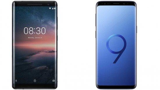 Сравнительный обзор смартфонов Nokia 8 Sirocco и Samsung Galaxy S9