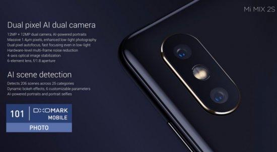 Xiaomi Mi Mix 2S набрал 97 баллов в тестах DxO