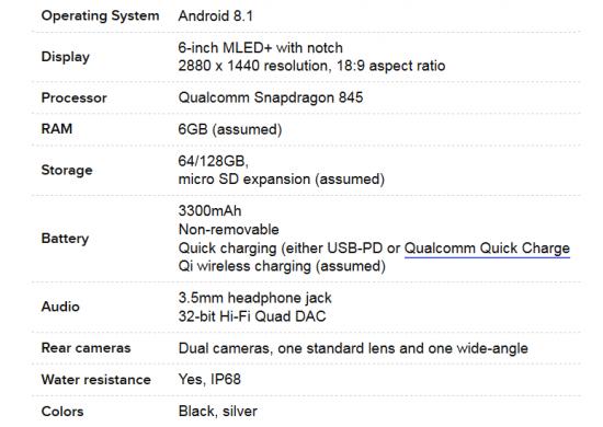 LG G7 характеристики