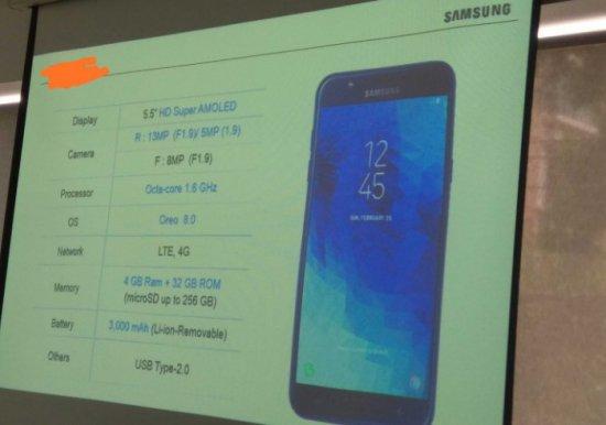 Стали известны характеристики и дата выхода смартфона Samsung Galaxy J7 Duo 2018