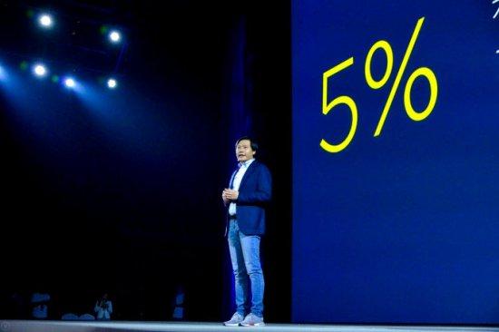 Прибыль Xiaomi не превышает 5%