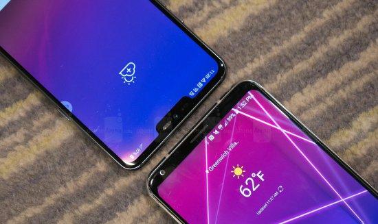 дизайн LG G7 ThinQ и LG V30