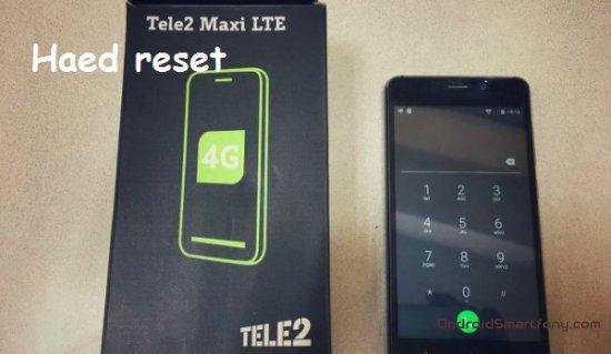 Hard reset Tele2 Maxi - сброс настроек, пароля, ключа