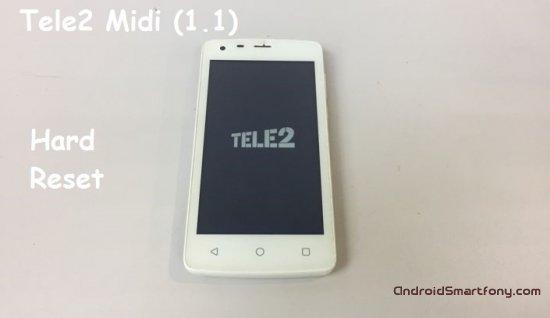 Hard reset Tele2 Midi (1.1) - сброс настроек, пароля, ключа