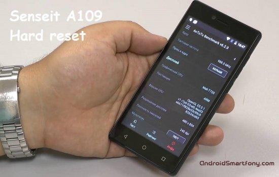 Hard reset Senseit A109 - сброс настроек, пароля, ключа