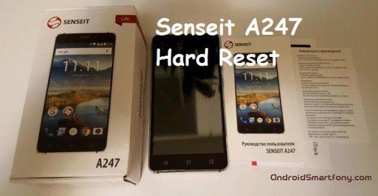 Hard reset Senseit A247 - сброс настроек, пароля, ключа