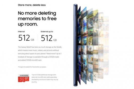 Хранилище 512 Гб в Note 9