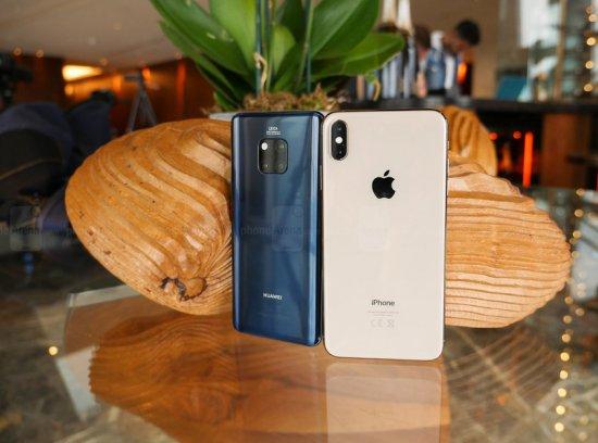 сравнение Huawei Mate 20 Pro vs Apple iPhone XS Max