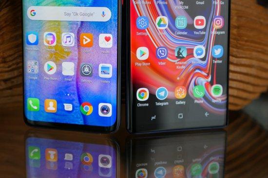 сравнение Huawei Mate 20 Pro vs Samsung Galaxy Note 9