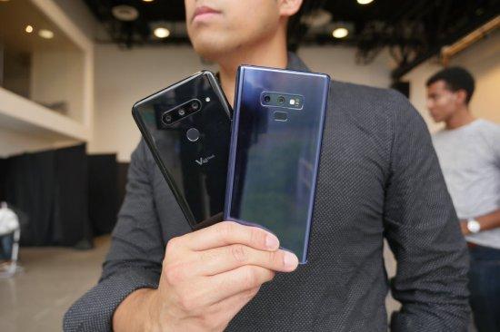 Сравнение смартфонов LG V40 ThinQ и Samsung Galaxy Note 9