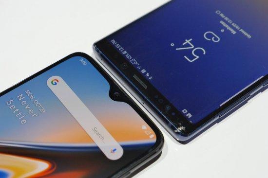 Краткое сравнение смартфонов OnePlus 6T и Samsung Galaxy Note 9
