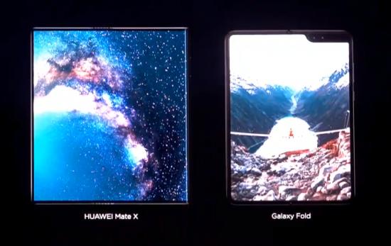 Сравнение гибких смартфонов Samsung Galaxy Fold и Huawei Mate X