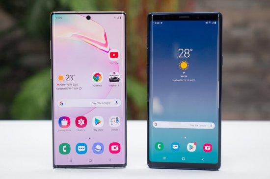 Сравнение смартфонов Samsung Galaxy Note 10+ и Galaxy Note 9